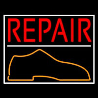 Red Repair Shoe Leuchtreklame