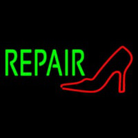 Red Sandal Logo Green Repair Leuchtreklame