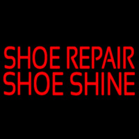 Red Shoe Repair Shoe Shine Leuchtreklame