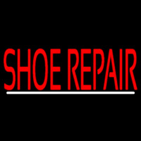 Red Shoe Repair With Line Leuchtreklame