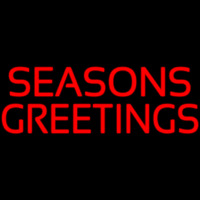Seasons Greeting Leuchtreklame