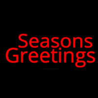 Seasons Greetings Leuchtreklame