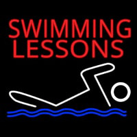 Swimming Lessons Leuchtreklame