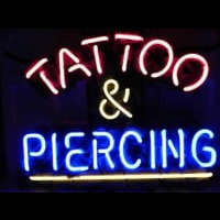 Tattoo and Piercing Parlor  Leuchtreklame