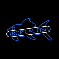 Tropical Fish Blue Leuchtreklame